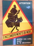 3 Affiches Anciennes - De L'illustrateur J.Tuloup - La Poste Colis Courrier Timbres Facteur Noel - Posters