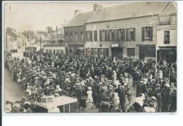 Bohain-Lacher De Ballons Place Thiers 1935- Carte Photo Faurie - Autres Communes
