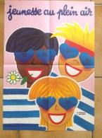 Affiche Ancienne - V.Morvan Et L.Kouper - Jeunesse En Plein Air - 1988 - Oeuvres Laiques De Vacances - Affiches
