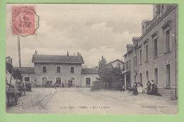 USSEL : La Gare, Hôtel De La Gare. Oblitération Ambulant Ussel à Clermont. 2 Scans. Edition Eyboulet - Ussel