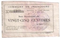 JEANCOURT.- 25 Ct - Bons & Nécessité