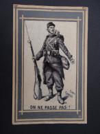 Carte Tissu MILITARIAT - Georges Scott - On Ne Passe Pas ! - Personnages