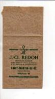 Publicité  Sac Publicitaire Pharmaceutique  D La Pharmacie J.-Cl. Redon Docteur à Saint-Martin-de-Ré - Publicités