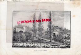 87 - LE VIGEN - RARE GRAVURE DE TRIPON XIXE SIECLE- LIMOGES- PONT DU VIGEN - Estampas & Grabados