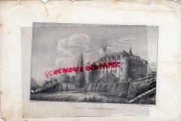 87 -ROCHECHOUART - RARE GRAVURE DE TRIPON XIXE SIECLE- CHATEAU - Estampas & Grabados