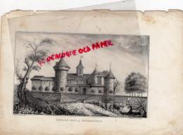 23- BOURGANEUF- TOUR DE ZIZIM  - RARE GRAVURE DE TRIPON XIXE SIECLE- CHATEAU - Prints & Engravings