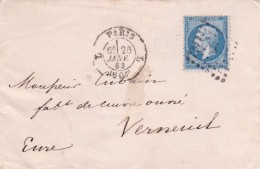 France N°22 Sur Lettre - 1862 Napoleon III