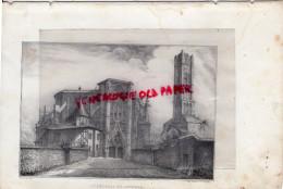 87 - LIMOGES - CATHEDRALE - RARE GRAVURE DE TRIPON XIXE SIECLE- - Estampas & Grabados