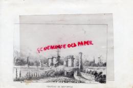 87 - MONTBRUN CHATEAU   - RARE GRAVURE DE TRIPON XIXE SIECLE- - Prints & Engravings