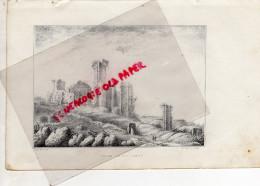 87 -  TOURS DE CHALUCET -CHALUSSET-  - RARE GRAVURE DE TRIPON XIXE SIECLE- - Estampas & Grabados