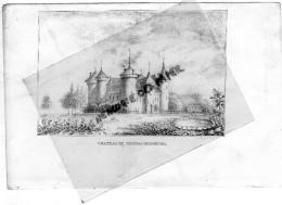 87 -  COUSSAC BONNEVAL - CHATEAU -  - RARE GRAVURE DE TRIPON XIXE SIECLE- - Estampas & Grabados