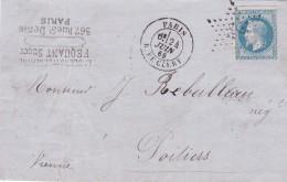 France N°29 Sur Lettre - 1863-1870 Napoleon III With Laurels