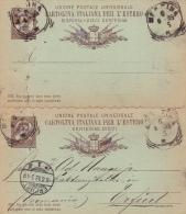 Postkarte Fil. C 8 Von Messina Nach Erfurt Mit Angehängter Unbenutzter Antwort (m073) - Entiers Postaux
