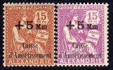 Alexandrie N° 83 / 84 X , Au Profit De La Caisse D´Aortissement La Paire Trace De Charnière Sinon TB