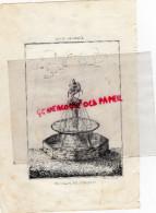 87 -  LIMOGES- FONTAINE DU CHEVALET - RUE DES COMBES AU XVIIIE -  RARE GRAVURE DE TRIPON LIMOGES-XIXE SIECLE - Estampas & Grabados