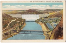 Grand Coulee Dam On Columbia River, Washington, Unused Postcard [17841] - United States
