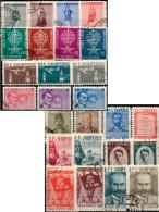 10 Set 1959-1962 Albanien Sets O 47€ Schauspieler Sprach-Forscher Flugverkehr Tracht Tanz Malaria Art Topic Of Shqiperia - Stamps