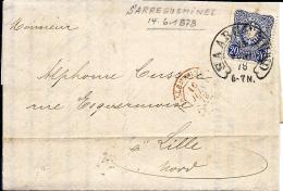N° Yv. 33 SARREGUEMINES 15.6.78 S/LAC V. LILLE. TB - Briefe U. Dokumente