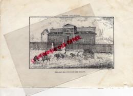 19 - TULLE - PALAIS DE JUSTICE  -  RARE GRAVURE DE TRIPON LIMOGES-XIXE SIECLE - Estampas & Grabados