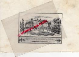 19 - POMPADOUR - COURSES HIPPIQUES -HIPPISME   -  RARE GRAVURE DE TRIPON LIMOGES-XIXE SIECLE - Prints & Engravings
