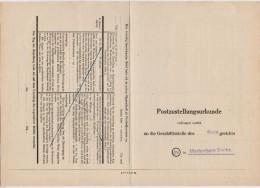 POSTZUSTELLUNGSURKUNDE Des Amtsgerichts MARIENBERG Nach ZÖBLITZ  1948 - Sowjetische Zone (SBZ)
