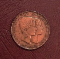 BELGIQUE - Module De 10 Centimes Du Mariage Du Duc Et De La Duchesse De Brabant - 1853 - 1831-1865: Leopold I