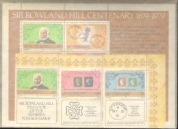 "St.Vincent 1979: Michel-No. 540-542 + Block 9 ** MNH  ""Sir Rowland Hill"" - Rowland Hill"