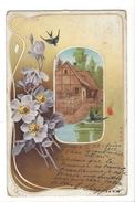 14844 - Hirondelles Fleurs  Maison DRGM - Autres