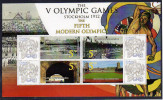 Ghana 2009 Personalized Stamps S/Sheet Mnh Olympic Games Stockholm 1912 Olympia Stadion