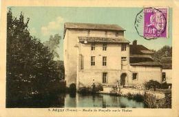 Cpa JOIGNY 89 Moulin De Pouyelle Sur Le Tholon - Erreur Légende Moulin De Pompelle - - Joigny