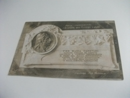 GENOVA SCOFFERA TARGA COMMEMORATIVA INAUGURATA ALLA SCOFFERA IL 4-10-1908 A PIER MARIA CANEVARI SCULTORE UGO NICCOLAI - Genova
