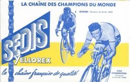 Buvard/SEDIS/ La Chaine Des Champions Du Monde/ OCKERS - VAN STEENBERGEN/ 1956   BUV278 - Bikes & Mopeds