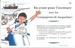 Buvard/ Menier/ En Avant Pour L'aventure Avec Les Compagnons De Jacqueline!/1955-60   BUV279 - Chocolat