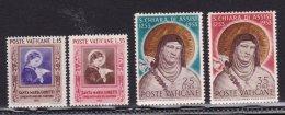 1953 Vaticano Vatican SANTA CHIARA, SANTA MARIA GORETTI 2 Serie Di 2v. MH* - Vatican