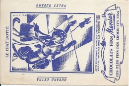 Buvard/ Menier/ Le Chat Botté/1955-60   BUV282 - Cocoa & Chocolat