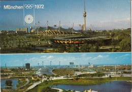 Olympiapark, Munich Old Postcard Travelled 1972 D160620 - Giochi Olimpici