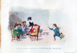 Chromo Phosphatine Falières Les Jeux D´enfants Lobrichon Planche 21 L'omnibus Devambez Contrôleur Poupée - Publicités