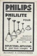 Buvard/ Electricité/ PHILIPS/ Phililite  Pour Bureaux -Magasins-Appart/Réflecteurs & Diffuseurs/Vers 1950-55  BUV283 - Electricity & Gas