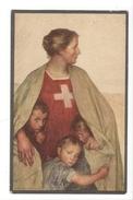 14854 -  Femme Et Trois Enfants Par Eugène Burnand Carte De La Fête Nationale  Bundesfeierpostkarte 1917 - Te Identificeren