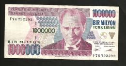 TURKEY - NATIONAL BANK - 1000000 / 1 MILLION LIRA - Turchia