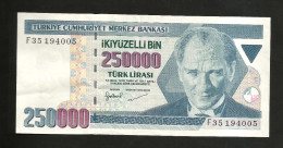TURKEY - NATIONAL BANK - 250000  (1998) - Turchia