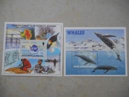 Y025 British Antarctic Territory Block 3, 4 Mnh/ 1996 Beide Blockausgaben Cpl. Scar / Wale - Ungebraucht