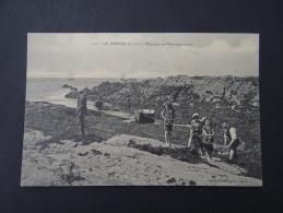 LE CROISIC - Rochers De Port-aux-Rocs - Goemon Barque Pêche - Le Croisic