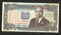 KENYA - CENTRAL BANK Of KENYA - 200 SCHILLINGS (1992) / D. TOROITICH ARAP MOI - Kenia