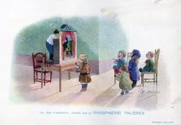 Chromo Phosphatine Falières Les Jeux D´enfants Lobrichon Planche 10 Au Théâtre Devambez - Publicités