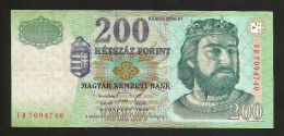 UNGHERIA / HUNGARY / MAGYAR - NATIONAL BANK - 200 FORINT (BUDAPEST 1998) - Ungheria