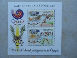 Y033 Cook - Inseln Aitutaki Block 70 Mnh Olympiade Seoul - Aitutaki