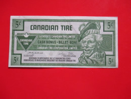 X1- Cash Bonus,Billet-Boni, Canadian Tire-5 ¢  2005.-Circulated - Canada