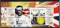 Gambia 2008 Personalized S/Sheet Mnh Olympic Games London 1908 Forrest Smith Gold Medal Winner.