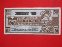 X1- Cash Bonus,Billet-Boni, Canadian Tire- 50 ¢  2003.-Circulated - Canada